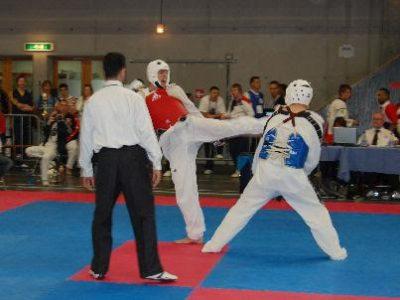 Martijn Taking Part in a Tekwondo Competition - Part 2
