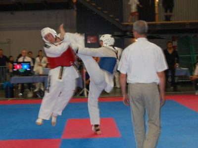 Martijn Taking Part of a Taekwondo Competion