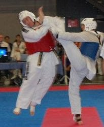 Martijn Taking Part of a Taekwondo Competion